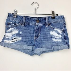 Hollister distressed denim jean shorts